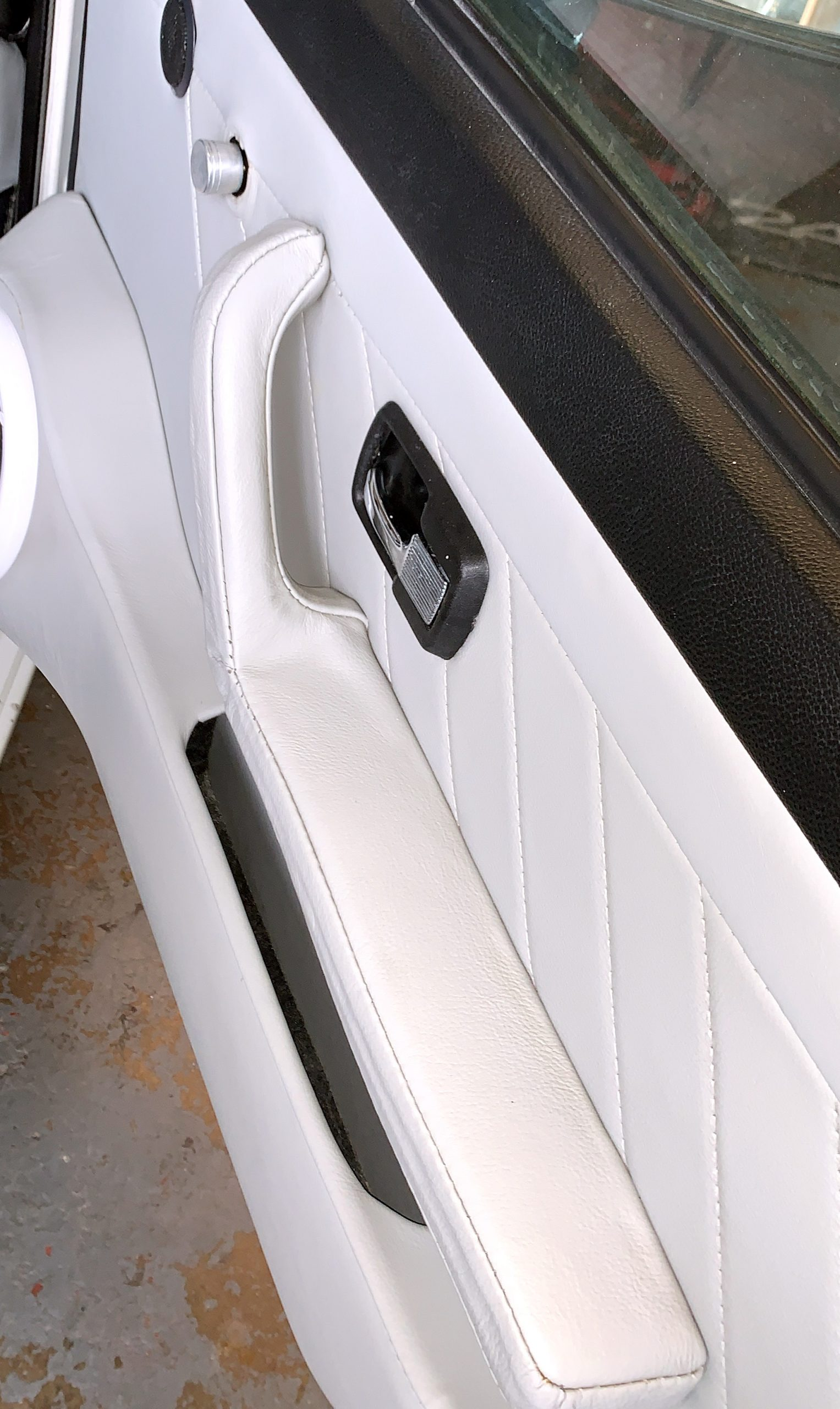 White+car-door+panel+upholstery