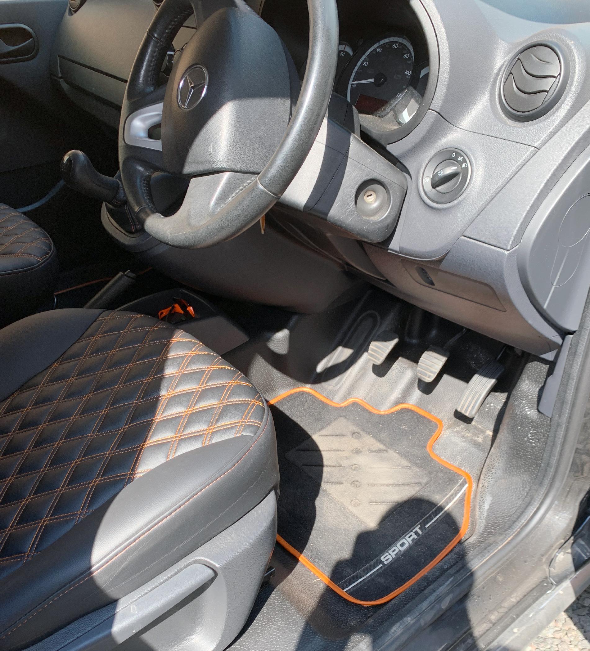 Grey+with+orange+accent+Mercades+van+upholstery